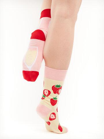 Sale Regular Socks Champagne & Strawberry