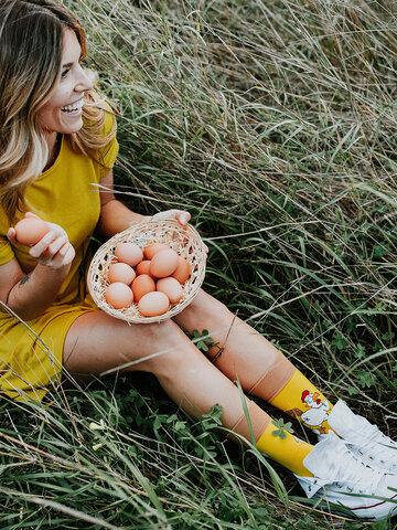 Foto Wesołe skarpetki Kura albo jajko