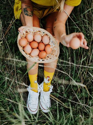 Wyprzedaż Wesołe skarpetki Kura albo jajko