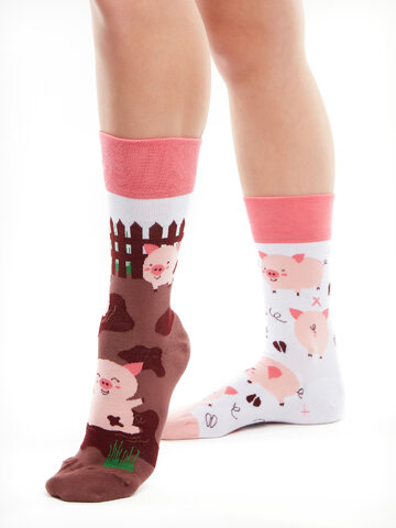 Potešte sa týmto kúskom Dedoles Весели чорапи Щастливи прасета