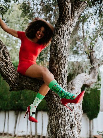 Lifestyle photo Regular Socks Four Leaf Clover for Luck