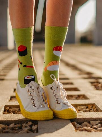 Lifestyle foto Veselé ponožky Sushi