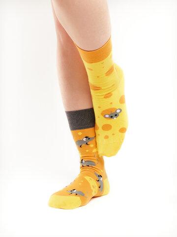 für ein vollkommenes und originelles Outfit Lustige Socken Käse