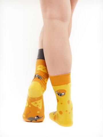 Bereiten Sie sich Freude mit diesem Dedoles-Stück Lustige Socken Käse