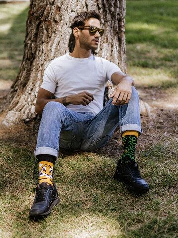 Zľava Veselé ponožky Tiger v džungli