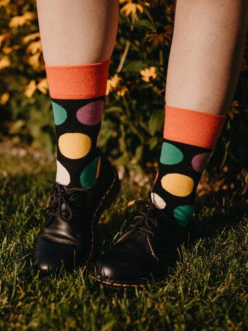 Geschenktipp Lustige Socken Große Punkte