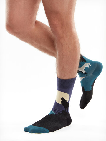 Potěšte se tímto kouskem Dedoles Veselé ponožky Vlk za úplňku