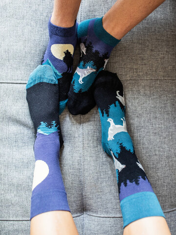 Výjimečný dárek od Dedoles Veselé ponožky Vlk za úplňku