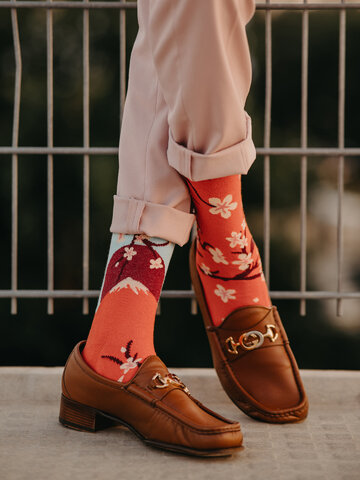 Pre dokonalý a originálny outfit Vesele čarape od recikliranog pamuka Japanska sakura