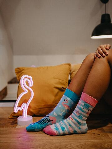 Lifestyle photo Regular Socks Love Flamingos