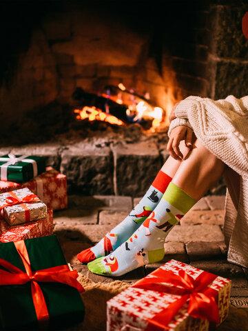 Geschenk von Dedoles Lustige Socken Winter
