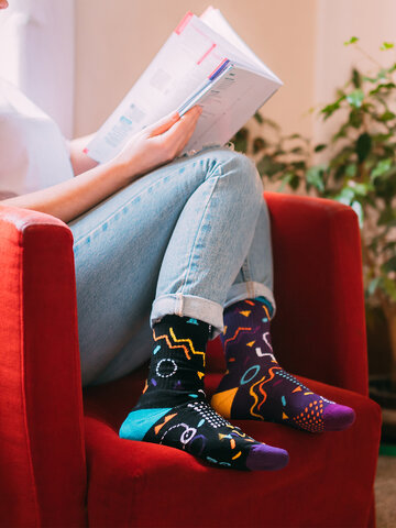 Tip na darček Весели спортни чорапи Ретро геометрия