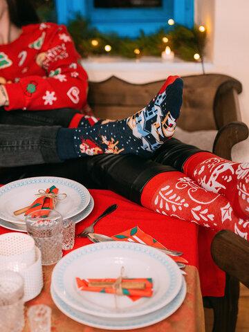 Geschenktipp Geschenkbox Weihnachtsmann und Rudolf
