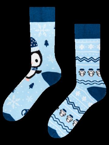 pro dokonalý a originální outfit Dárková krabička teplých ponožek Tučňák a sněhulák