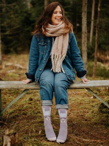 Lifestyle-Foto Lustige warme Socken Lama