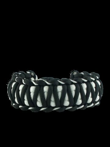 Výnimočný darček od Dedoles Čierno-biely paracord náramok Zebra