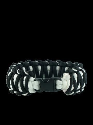 Tip na darček Čierno-biely paracord náramok Zebra
