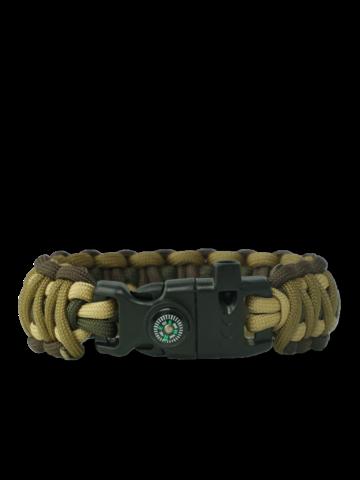 Výpredaj Bracelet en paracorde Multicam M avec allume-feu, boussole et sifflet