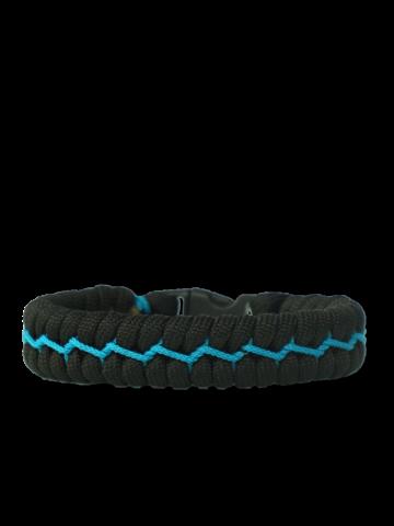 Foto Zestaw czarno-niebieskich bransoletek z linki spadochronowej