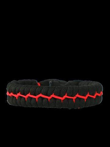 Rabatt Schwarzes und oranges Paracord-Armband Anzug