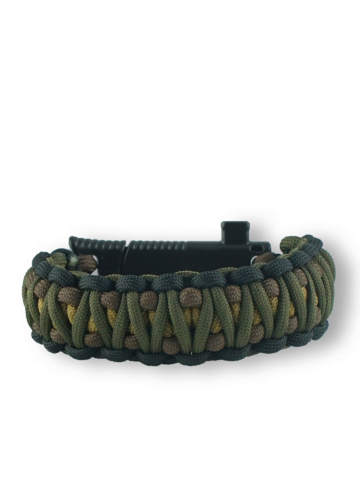 Geschenk von Dedoles Paracord Armband mit Messer, Kompass, Feuerschläger und Pfeife Muster 95