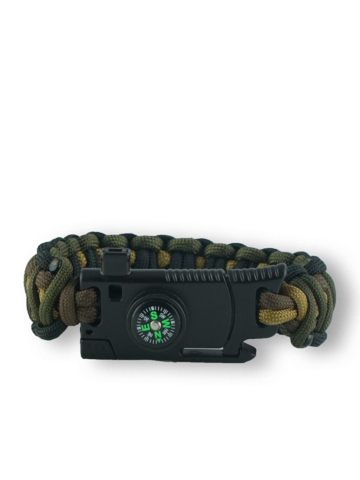 Geschenktipp Paracord Armband mit Messer, Kompass, Feuerschläger und Pfeife Muster 95