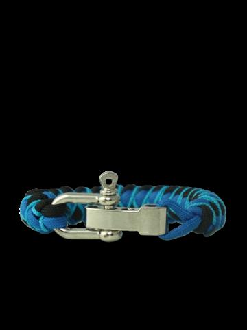 Ausverkauf Blaues Paracord-Armband Skip mit verstellbarer Schnalle