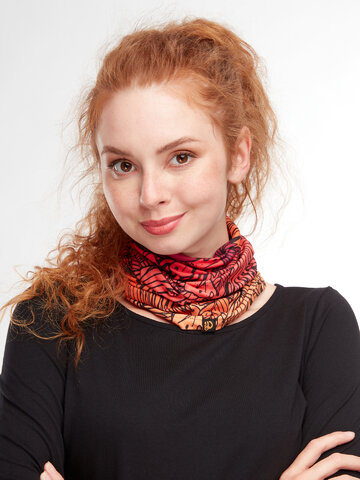 Gift idea Neck Warmer Exotic Leaves