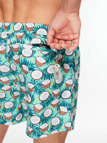 Potěšte se tímto kouskem Dedoles Veselé pánské plavkové šortky Kokosový ořech