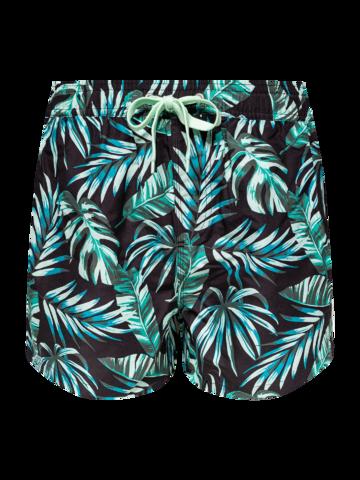 Lifestyle foto Vrolijke zwemshorts voor heren Tropische bladeren