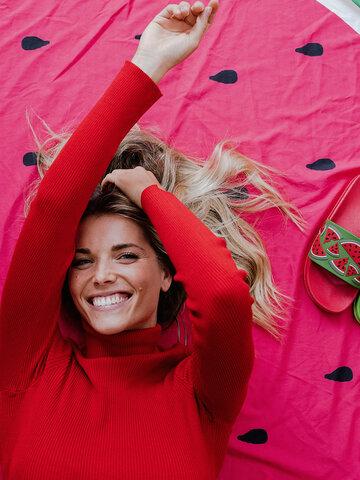 Lifestyle-Foto Lustige Pantoletten Wassermelone
