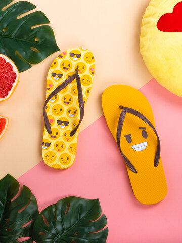 Suchen Sie ein originelles und außergewöhliches Geschenk? überrascht den Beschenkten sicher Lustige Flip-Flops - Smileys