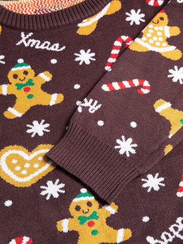 Foto Wesoły sweter świąteczny Imbir