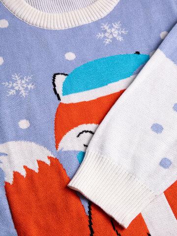 a tökéletes és egyedi ruházathoz Vidám karácsonyi pulcsi Téli róka