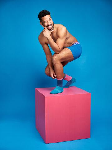 Tip na darček Kráľovsky modré pánske boxerky