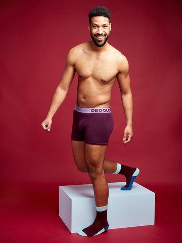 Rabatt Pflaumenviolette Boxershorts für Männer