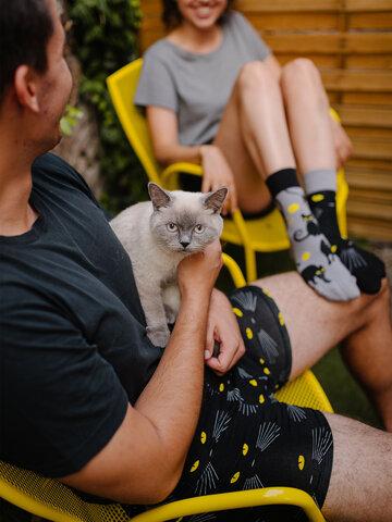Potešte sa týmto kúskom Dedoles Veselé pánske boxerky Mačky