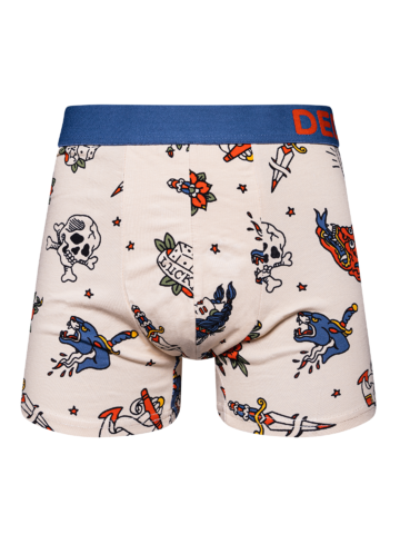 Looking for an original and unusual gift? The gifted person will surely surprise with Men's Trunks Old School Tattoo