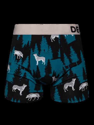 Geschenk von Dedoles Lustige Boxershorts für Männer Mondwolf