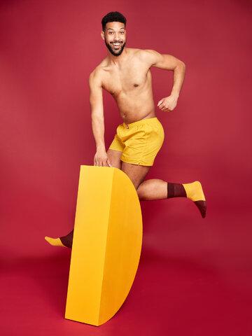 Potešte sa týmto kúskom Dedoles Musztardowo żółte szorty męskie