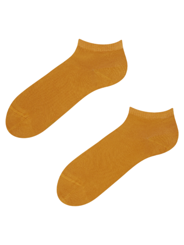 Výnimočný darček od Dedoles Bambusové členkové ponožky Horčicovo žlté