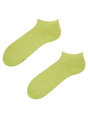 Lifestyle photo Lime Bamboo Ankle Socks