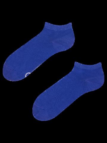 Pre dokonalý a originálny outfit Bambusové členkové ponožky Modrý Iris