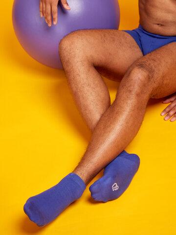 Výnimočný darček od Dedoles Bambusové členkové ponožky Modrý Iris