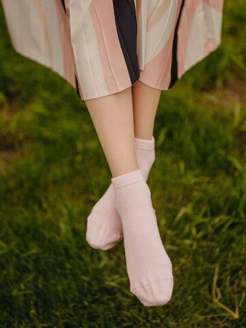 Zľava Bambusové členkové ponožky Pastelovo ružové