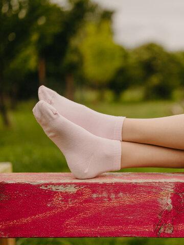 Pre dokonalý a originálny outfit Bambusové členkové ponožky Pastelovo ružové