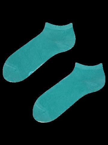 Výpredaj Bambusové členkové ponožky Pastelovo tyrkysové