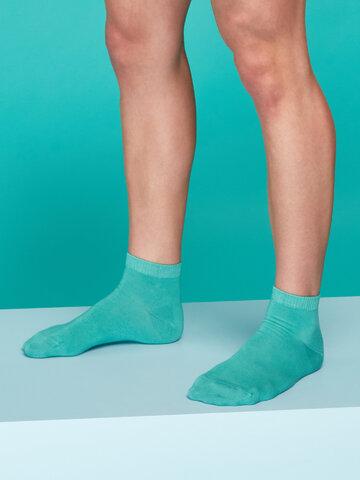 Obrázok produktu Bambusové členkové ponožky Pastelovo tyrkysové