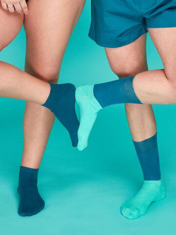 Výnimočný darček od Dedoles Bambusové členkové ponožky Petrolejovo modré