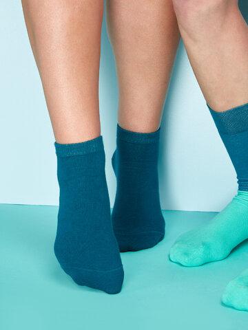 Tip na darček Bambusové členkové ponožky Petrolejovo modré